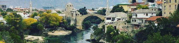 Босния и Герцеговина - панорама Мостар