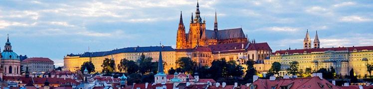 Чехия - фотография вечерней Праги, собор Святого Вита