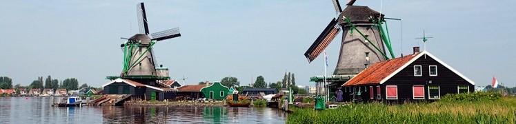 Нидерланды - мельницы в Заансе Сханс