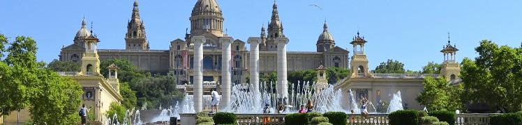 Барселона - площа Іспанії, співаючі фонтани