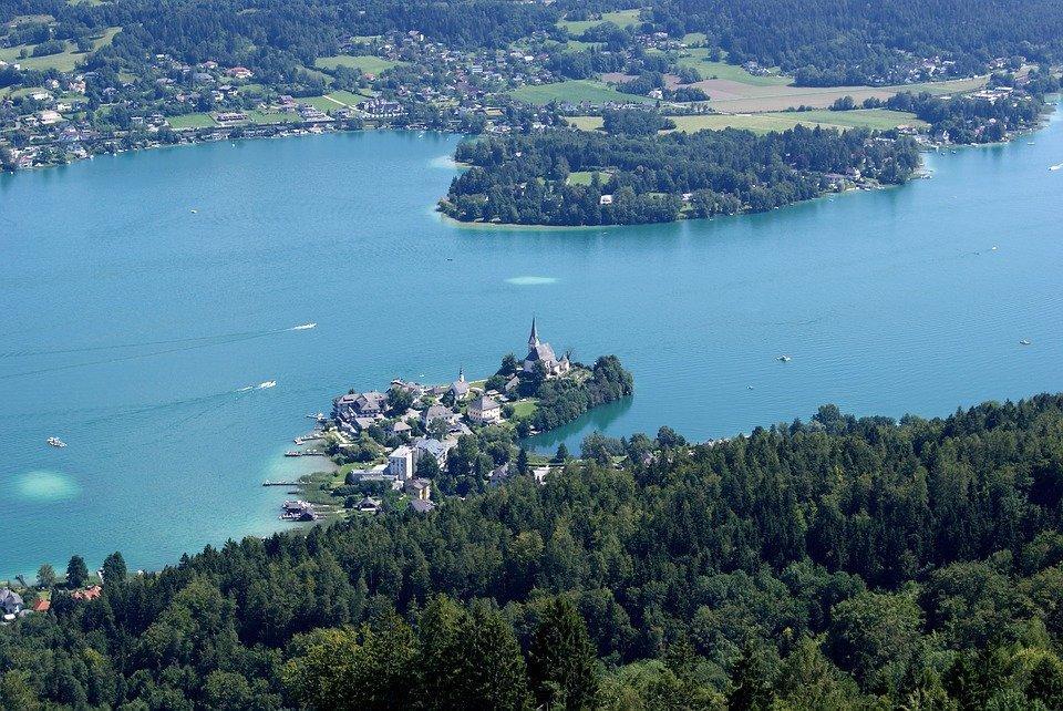 Озеро Вертерзее, Австрия